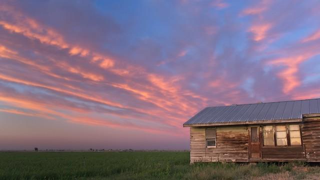 Sunset Abandoned Farmhouse 1324 A