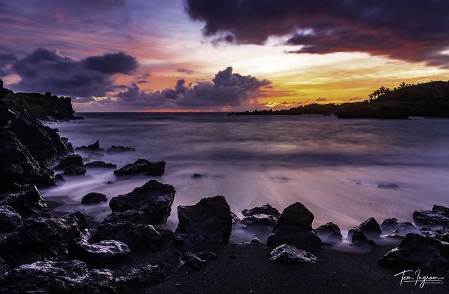 Black Beach Beach Sunrise