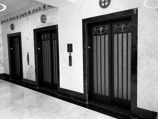 Elevators Historic Langford Hotel Downtown Miami