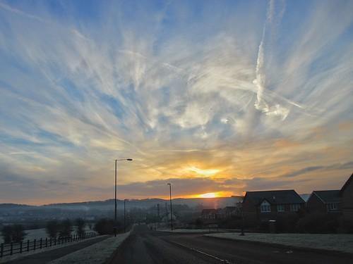 Sunrise at Penshaw