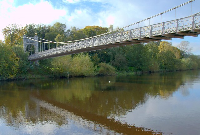 Footbridge over the river at Chester