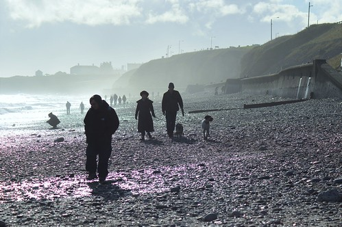 Wintry day at Seaham beach