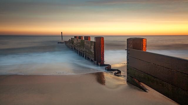 Dawn on Cart Gap Beach Norfolk