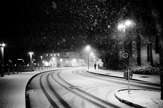 First snow in town