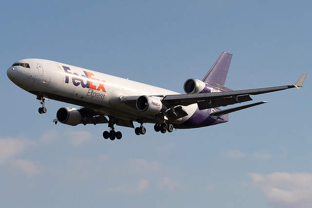 N642FE FedEX Express MD-11F London Stansted Airport
