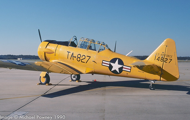 N92796 - 1951 build North American AT-6G Texan, at Seymour-Johnson AFB during the 1990 Community Appreciation Day