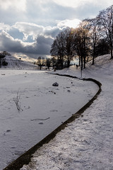 Winter Path Along The Edge
