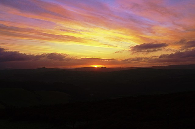 Today's Sunrise from Moelfre Uchaf