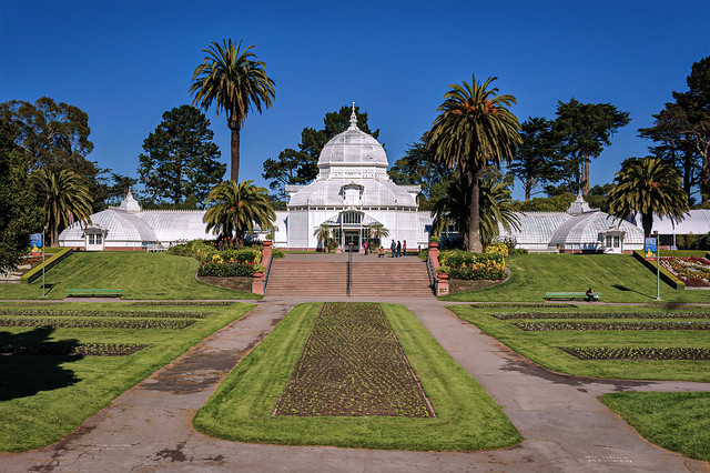 The Conservatory of Flowers in San Francisco, California