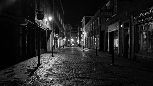 Empty Winckley Street, Preston