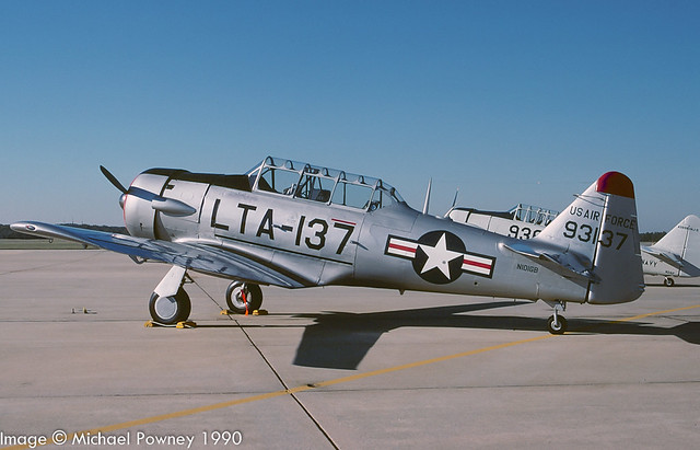 N101GB - 1951 build North American AT-6G Texan, at Seymour-Johnson AFB during the 1990 Community Appreciation Day