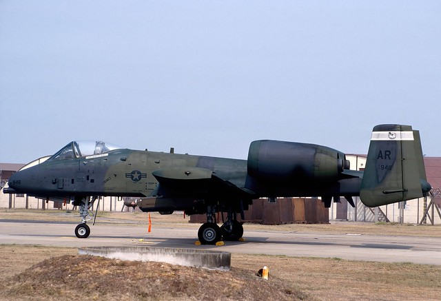81-0948 AR gyw A-10A USAFE 10TFW 509TFS 900721 Lakenheath 1001