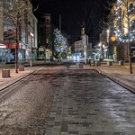 Empty Fishergate in Preston