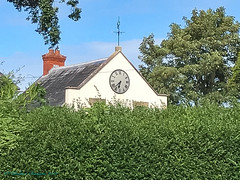 Somerset- Langport - House Hidden By The Hedge