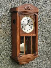 Edwardian wall clock