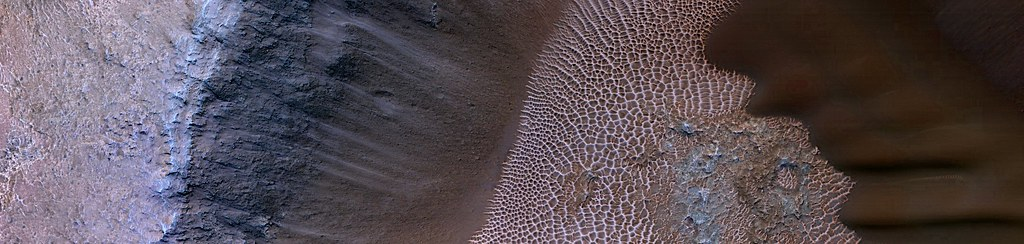 Mars - Slope of Impact Crater