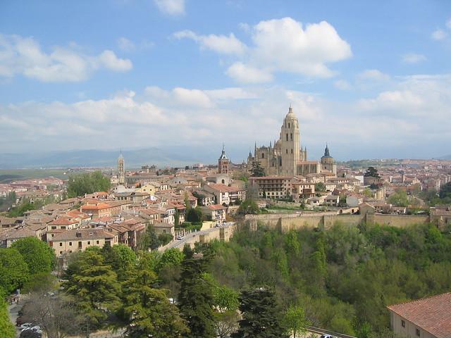 IMG_3010 Blick vom Alcázar auf die Kathedrale von Segovia, 20.4.2006