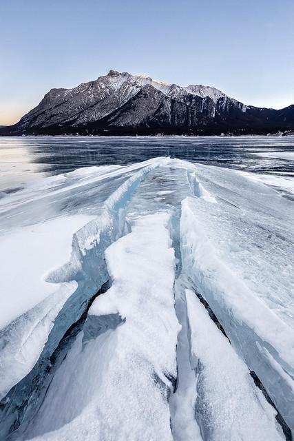 Cracked Ice, Abraham Lake, Kootenay Plains, Canadian Rockies