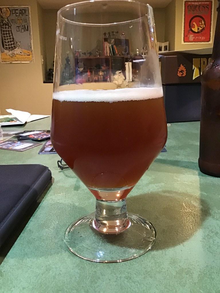 Winter warmer ale in glass