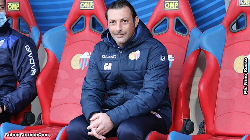 Il tecnico del Catania Giuseppe Raffaele