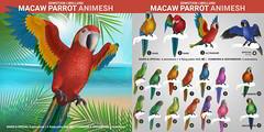 SEmotion Libellune Macaw Parrot Animesh