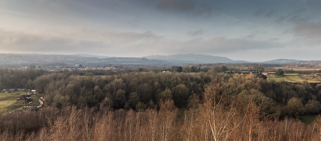 Panoramic view from Gresford Colliery Tip.