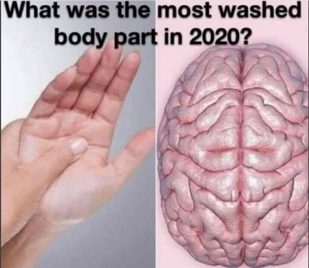 Most Washed Body Part