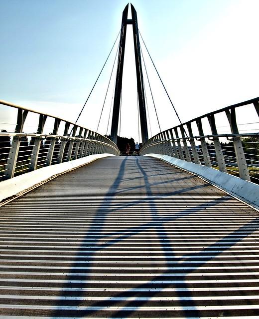 Modern footbridge in Worcester