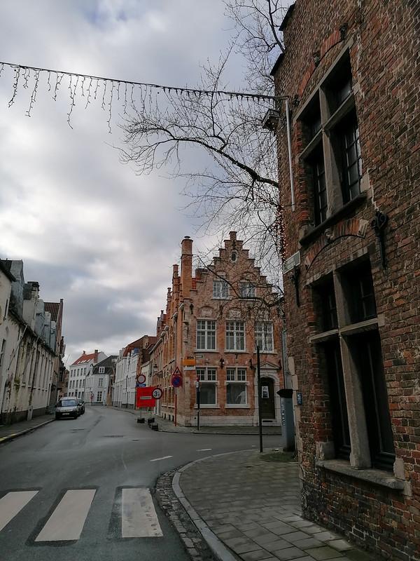 Calles de Brujas decoradas de navidad