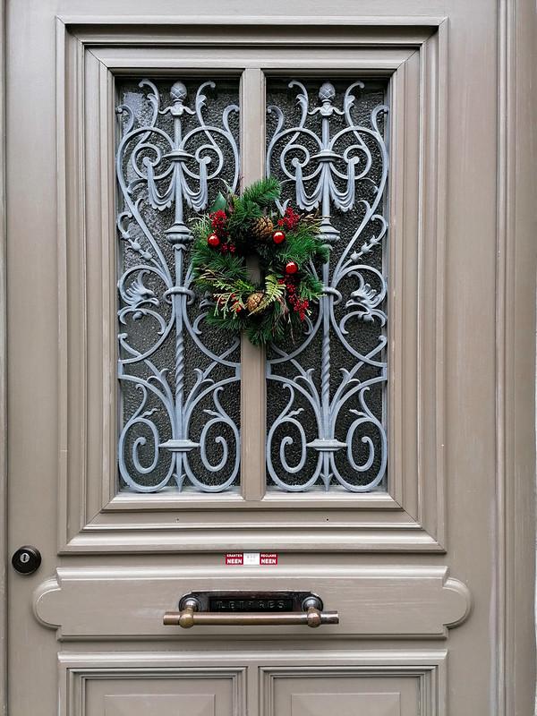 Decoraciones navideñas en pleno enero