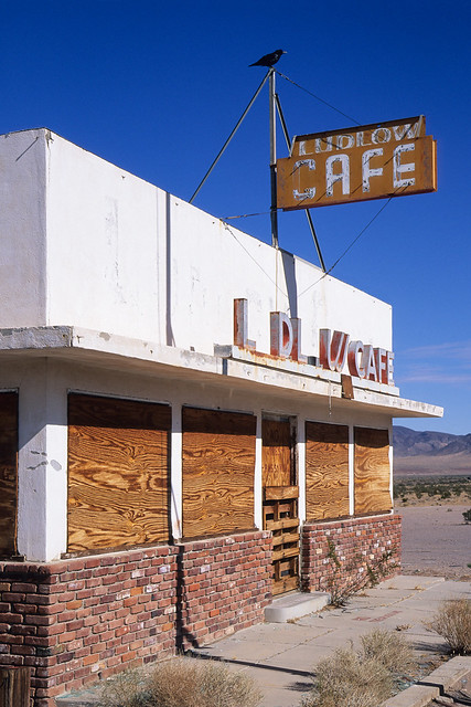 ludlow cafe / route 66. mojave desert, ca. 1999.