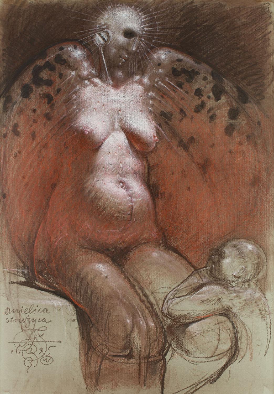 """Franciszek Starowieyski - """"Anielica strużyca"""", około 1995"""