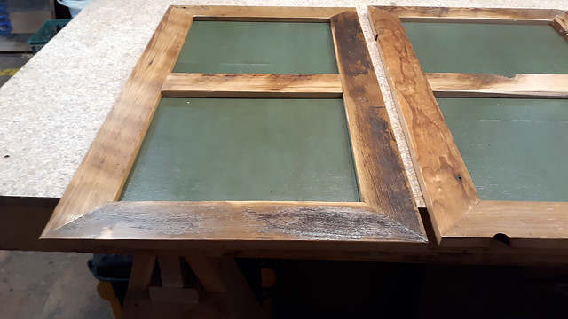 TV Cabinet made of reclaimed barn wood