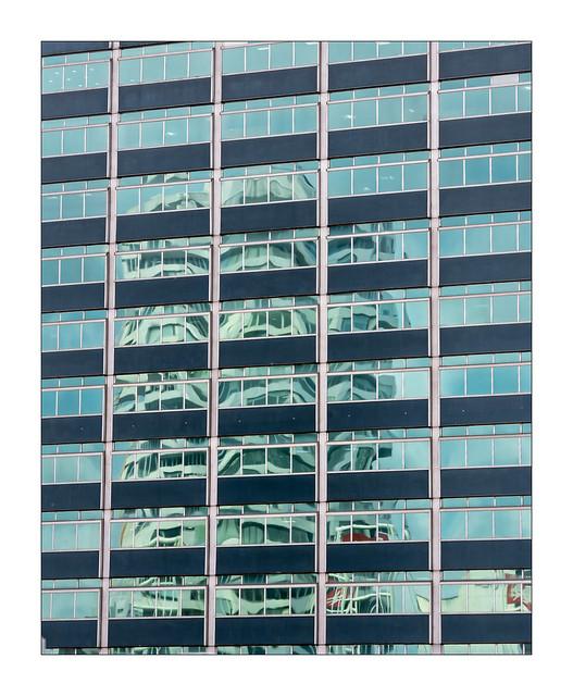 Croydon Architecture - NLA Tower reflected