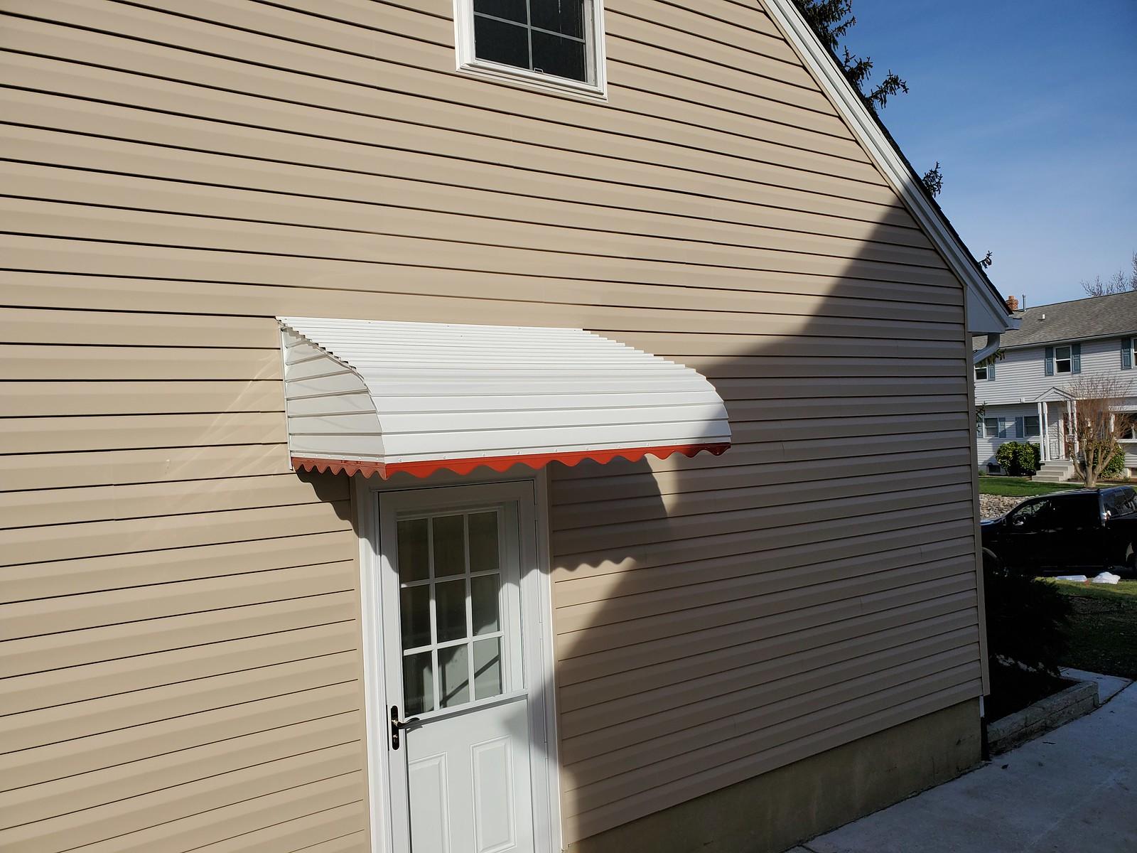 Front-Door-Aluminum Awning