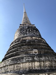 #stupa between temple columns & beautiful #temple details #lookingup #bangkok