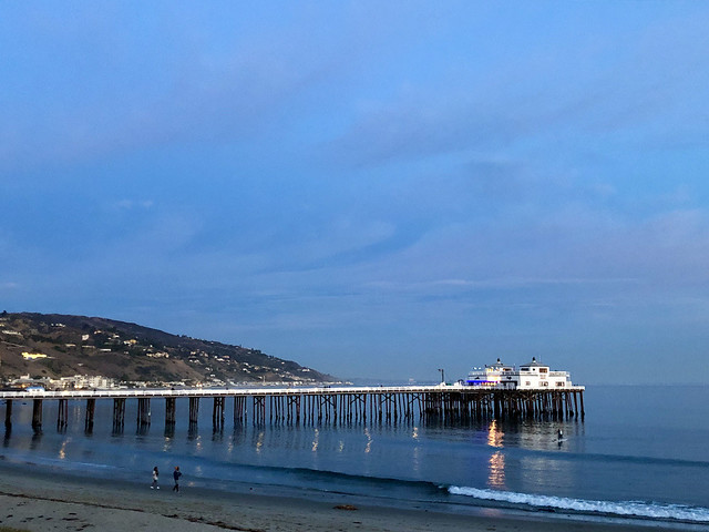 goodnight from the malibu pier