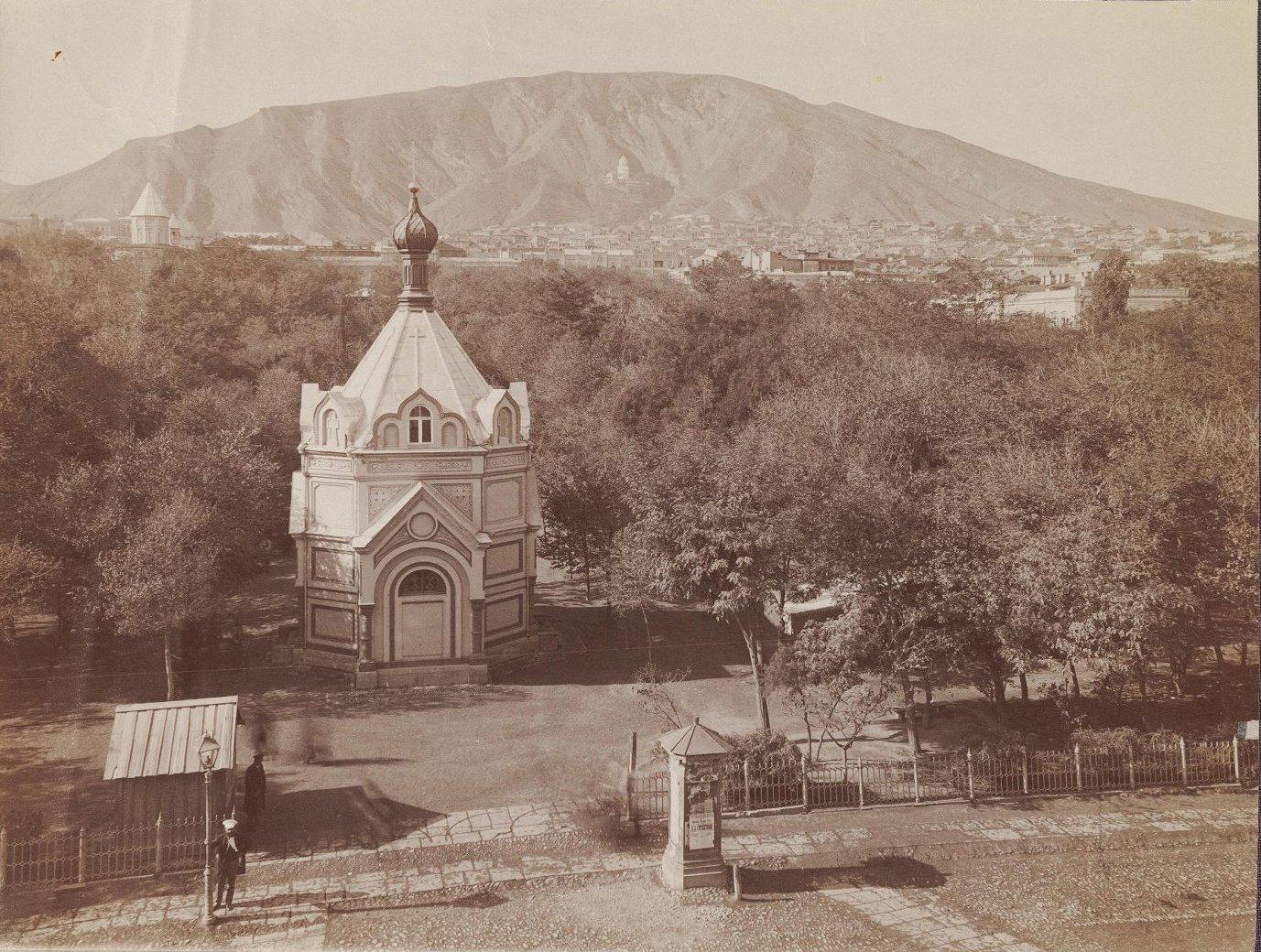 Часовня памяти императора Александра III в г. Тифлисе в Александровском саду. 1890-е