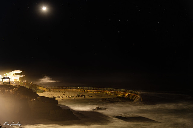 Waxing Crescent Moon over Point Mencinger
