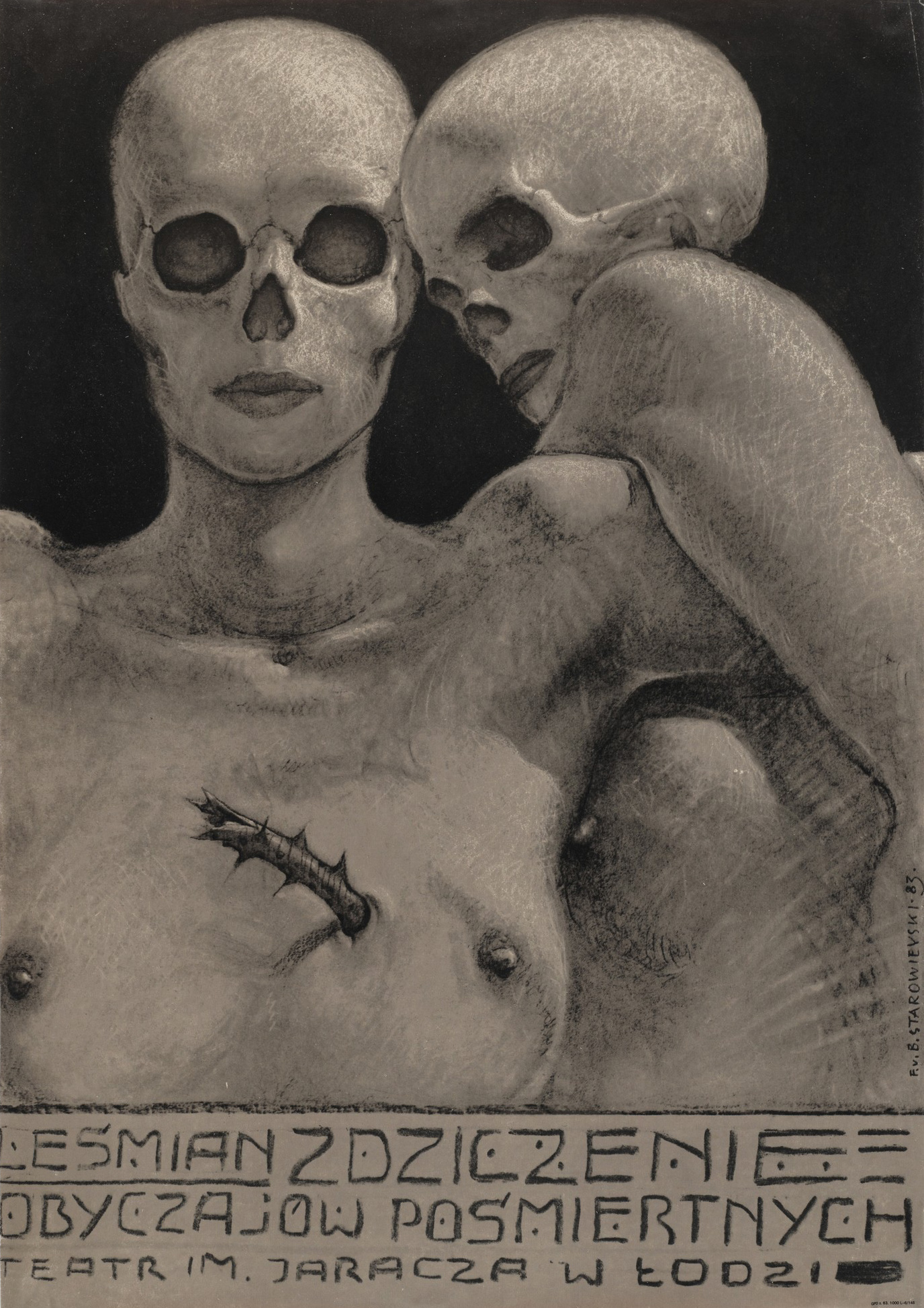 Franciszek Starowieyski - Zdziczenie Obyczajow Posmiertnych, 1983