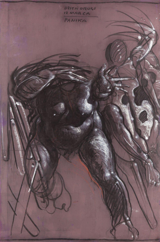 Franciszek Starowieyski - Panel 3, Teatr Rysowania nr 20. Przeciw Beckettowi, 1995