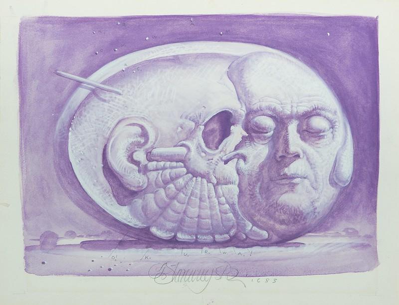 Franciszek Starowieyski - Untitled, Asleep, 1983
