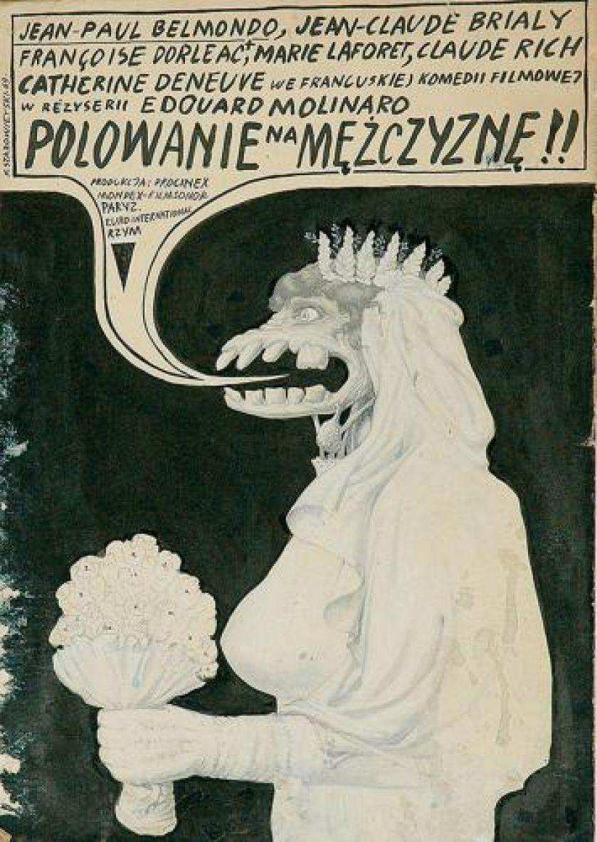 Franciszek Starowieyski - POLOWANIE NA MĘŻCZYZNĘ (Male Hunt)  Directed by Edouard Molinaro,1964