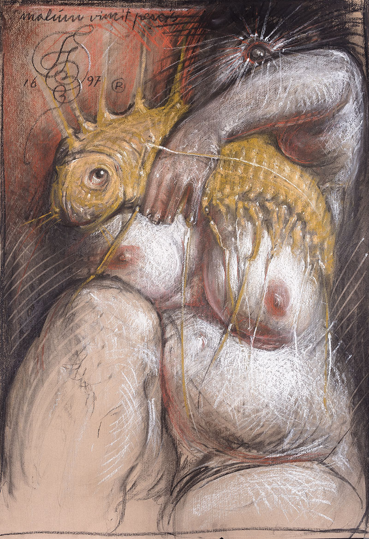 """Franciszek Starowieyski - """"Malum Vincit Pescis"""", 1997"""
