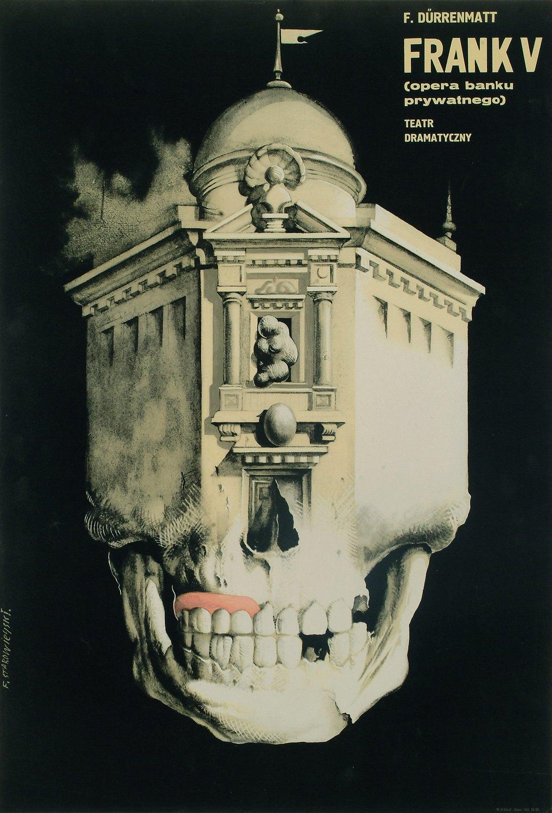 Franciszek Starowieyski -  Frank V (plakat do spektaklu Friedricha Durrenmatta), 1962
