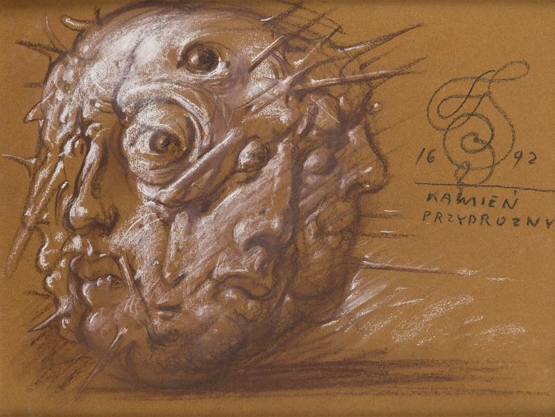 """Franciszek Starowieyski - """"Kamień przydrożny"""", 1692 (1992)"""