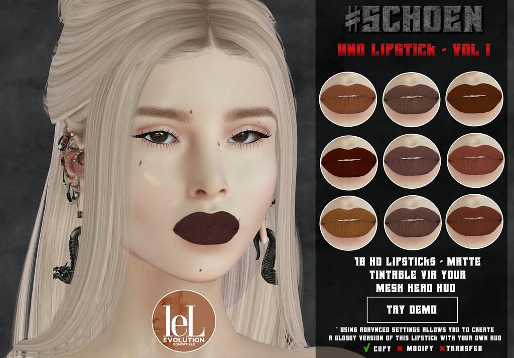 #SCHOEN – Uno Lipstick Matte – Vol. I