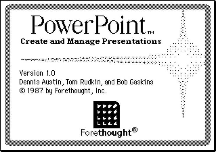 Microsoft PowerPoint di tahun 1987