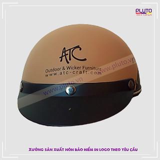 Mũ bảo hiểm quảng cáo - Nữa đầu Haly
