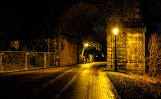 Under the bridge to Avenham Park at night | by Tony Worrall